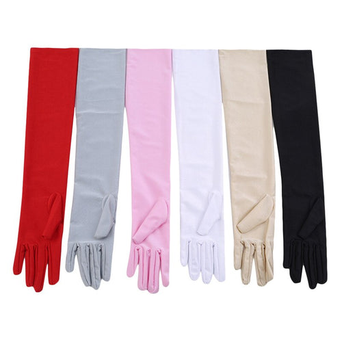 Women's Long Formal Satin Evening Gloves