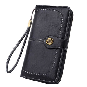 Women's RFID Leather Long Wallet