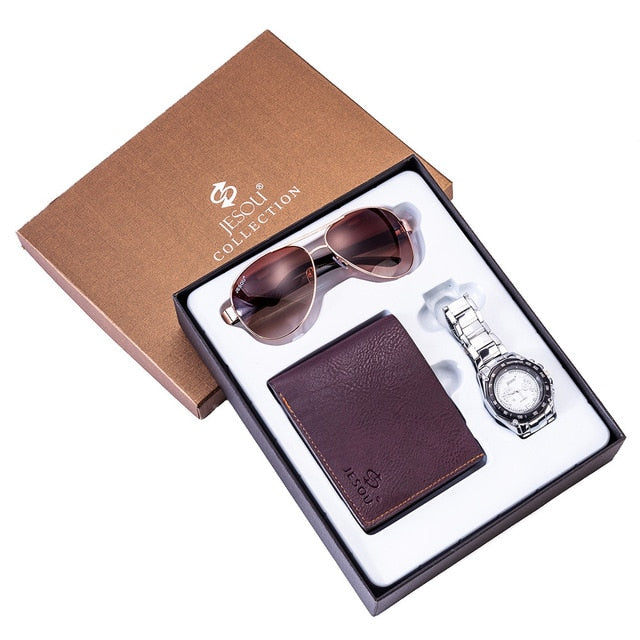 Men's 3 Piece Set (Watch, Wallet, and Sunglasses)