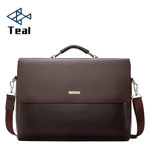 Men's Leather Laptop Tote Briefcase