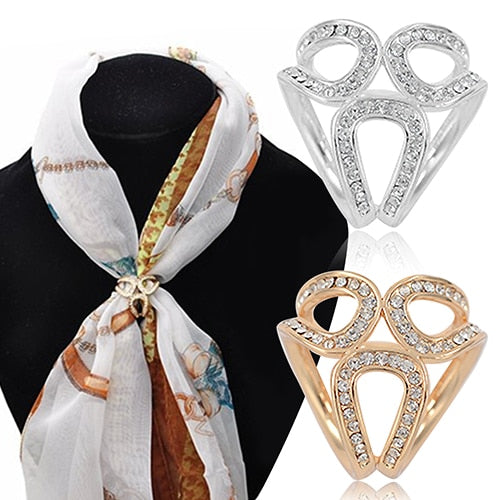 Women's Rhinestone Scarf Ring