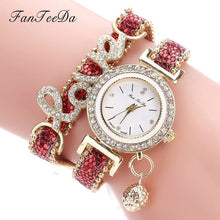 Load image into Gallery viewer, Women's Rhinestone Quartz Bracelet Watch