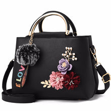 Load image into Gallery viewer, Women's Luxury Leather Flower Handbag