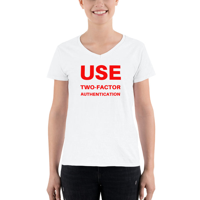 Women's Two-Factor Authentication V-Neck Shirt
