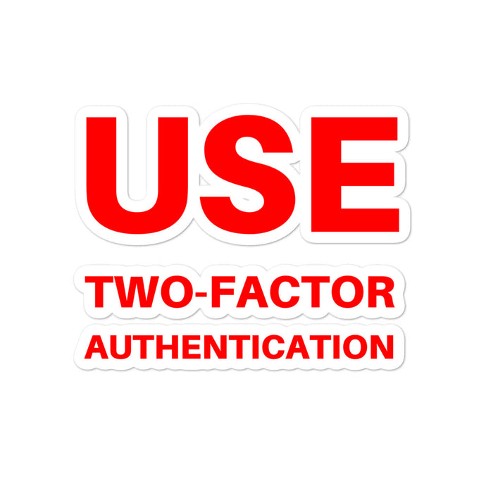 Two-Factor Authentication stickers