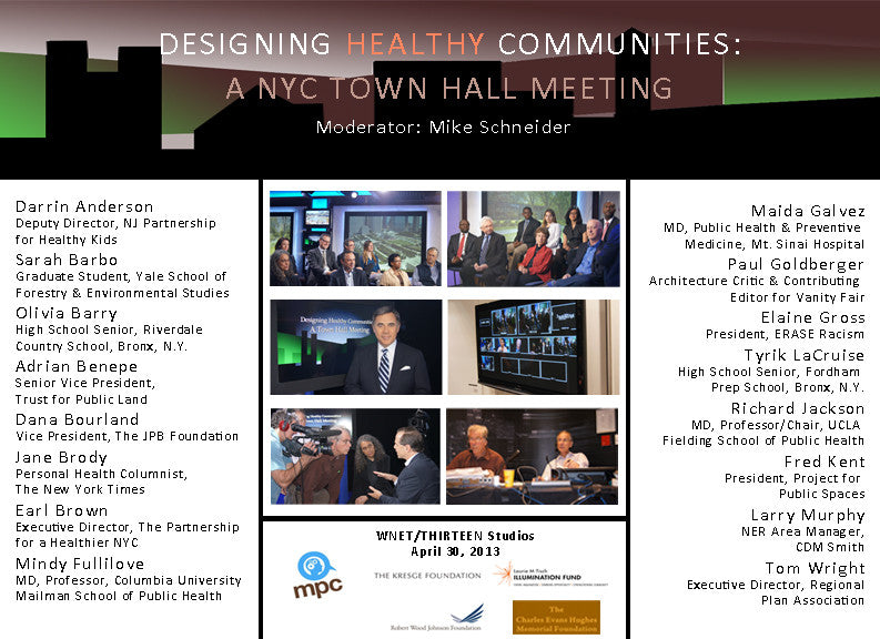 Designing Healthy Communities: A NYC Town Hall Meeting