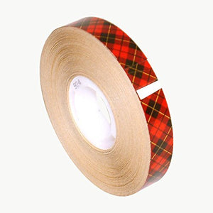 "3M Scotch 924 ATG Tape: 1/2 in. x 36 yds. Beige (Clear Adhesive on Tan Liner) aka ""Snot Tape"""