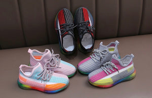 Rainbow Sole Sneakers