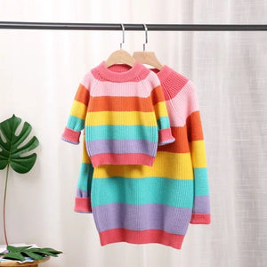 Mommy & Me Rainbow Pullover