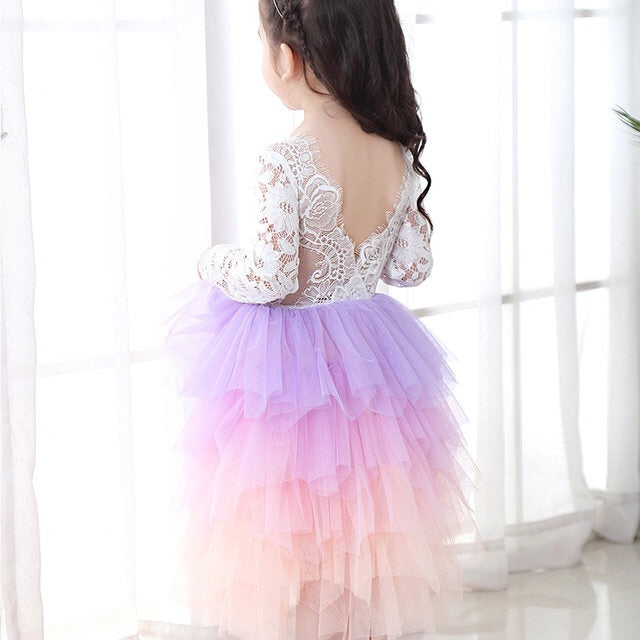 Pastel Ombré Tulle Dress
