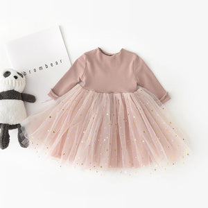 Long- Sleeve Tulle Dress