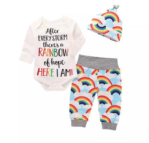 After Every Storm there's a rainbow of hope - 3 Piece set