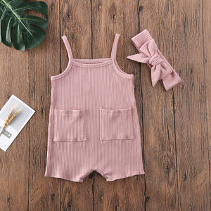 Baby Romper with matching headband