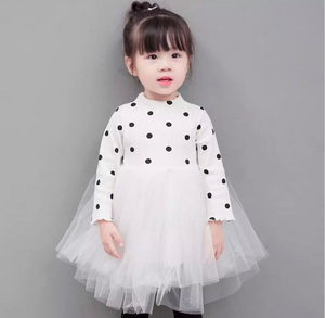 LILLY POLKA DOT DRESS IN WHITE