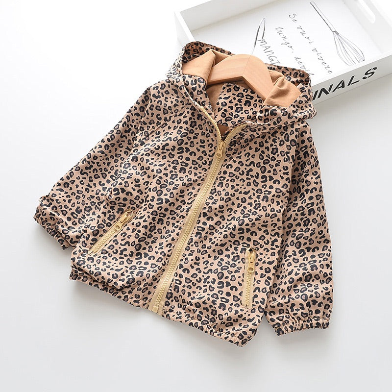 Cheetah Print Hooded Jacket