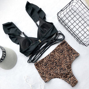 Leopard swimsuit set