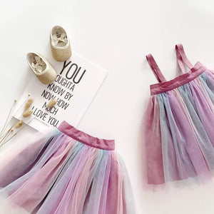 Suspender Tulle Skirt with removable straps
