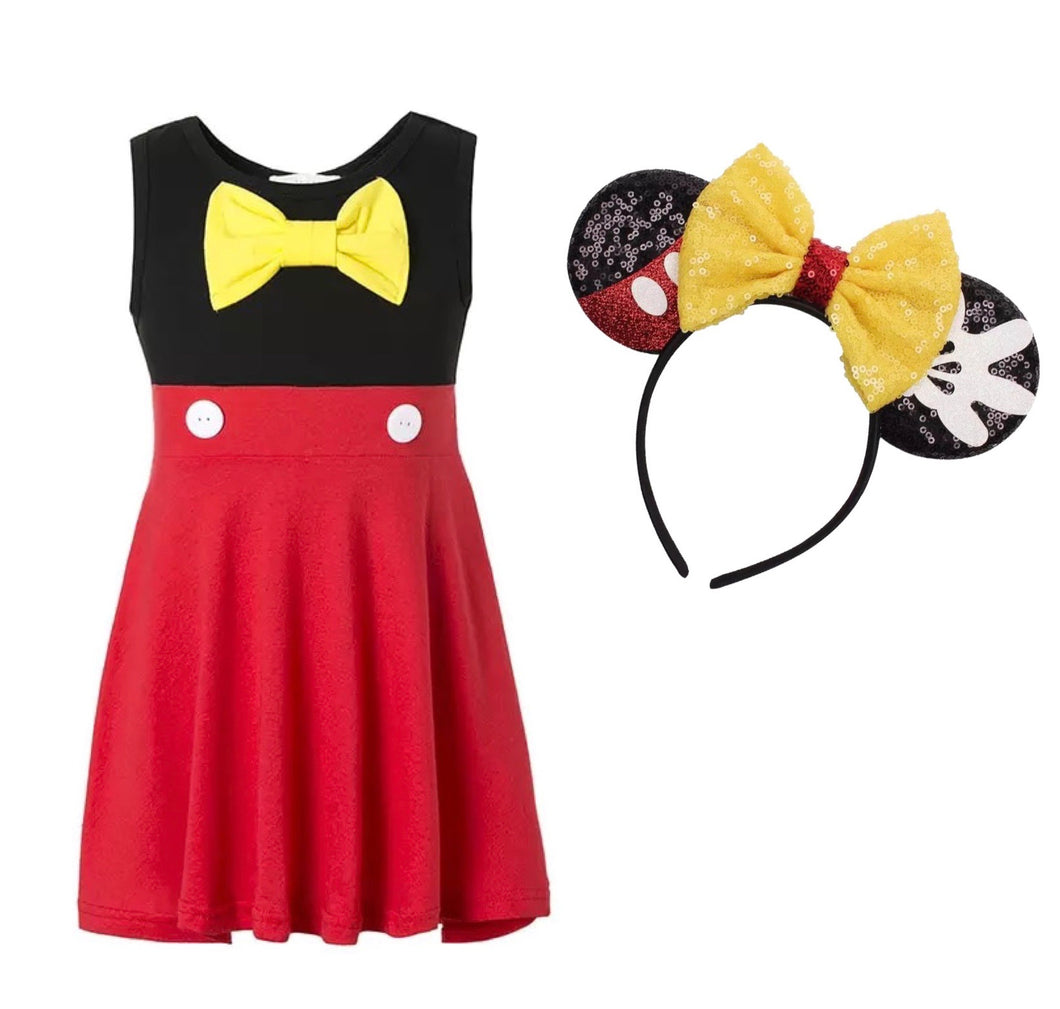 Mickey Dress with matching headband