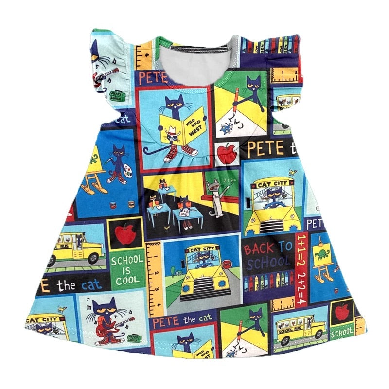 Pete the Cat back to school Dress