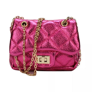 Kids designer inspired quilted handbags