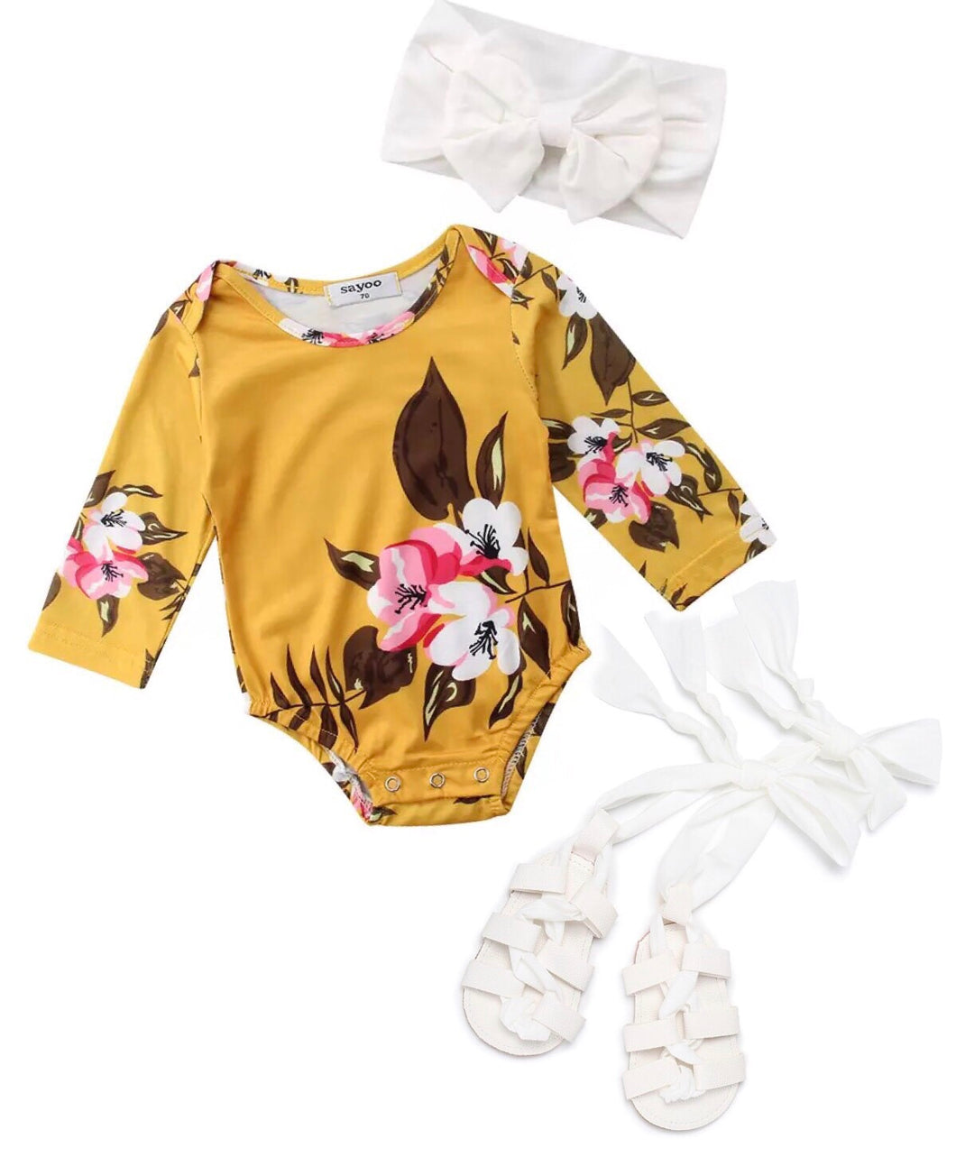 Long Sleeve Floral Romper Grab Bag