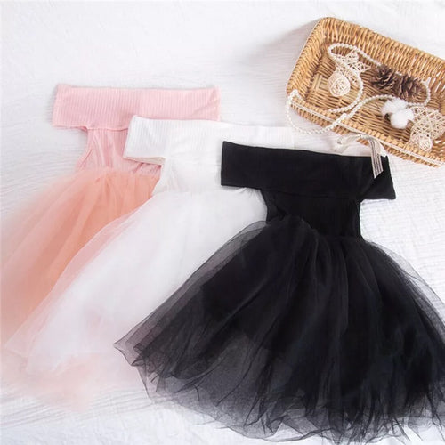 Off the shoulder tulle dress