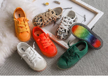 Canvas Sneakers with rainbow soles