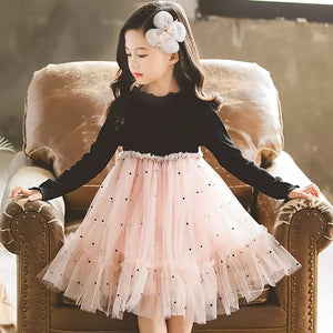 Long-sleeve Tulle Dress