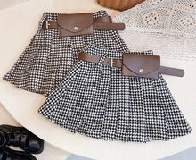 Plaid Skirt with belt