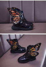 Butterfly lace up boots