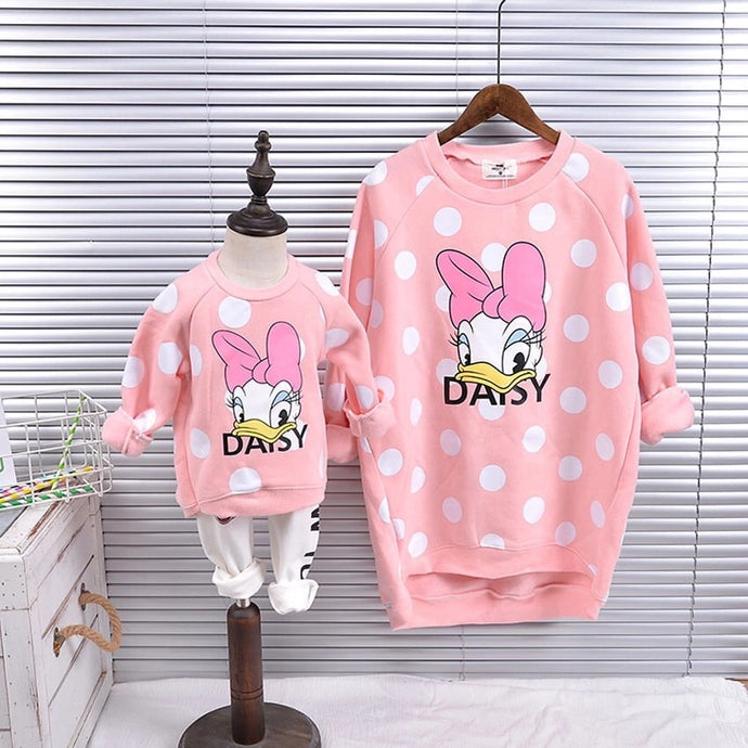 Daisy Duck Mommy and Me Pink Pullover