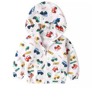 Vehicles Lined Hooded Jacket