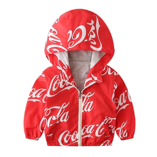 Coca-Cola Inspired lined windbreaker Jacket