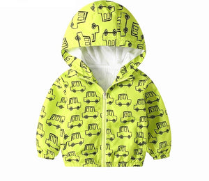 Cars lined Hooded Jacket