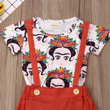 Frida Kahlo Top and Suspender pants