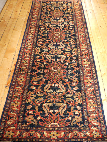 Picture of 10 Feet Afghani Runner Blue/Rust
