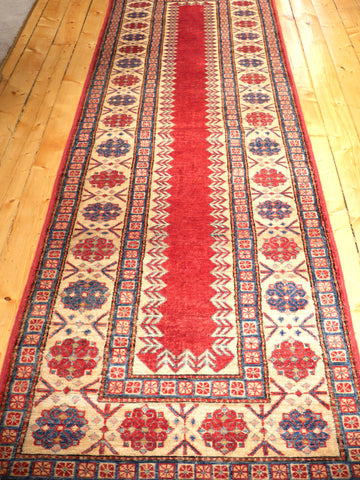Picture of 10 FEET AFGHANI KAZAK RED/BLUE