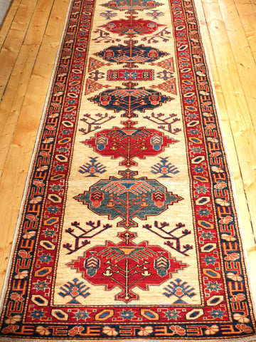 Picture of 12 FEET AFGHANI KAZAK RED/IVORY