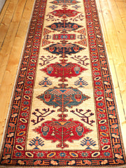 12 FEET AFGHANI KAZAK RED/IVORY