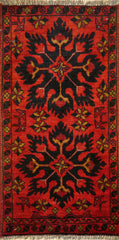 2x3 Khal Mohammadi Wool Dark Red/Blue Ghazni Wool
