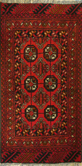 2x3 Khal Mohammadi Wool Dark Red/Blue