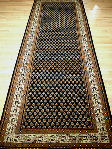 Picture of 8 Feet Indo Persian Mir Black/Cream