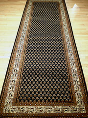 8 Feet Indo Persian Mir Black/Cream