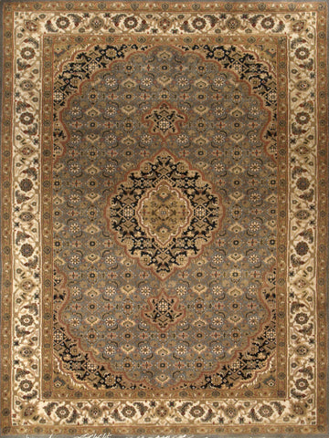 Picture of 4x6 Tabriz LT.Blue/Beige
