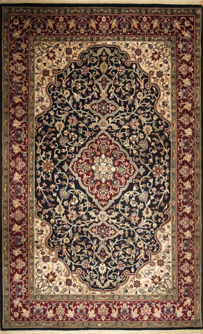 Picture of 4x6 Kashan Navy/Red