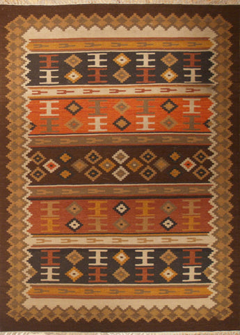 Picture of 5X8 KILIM MULTI WOOL