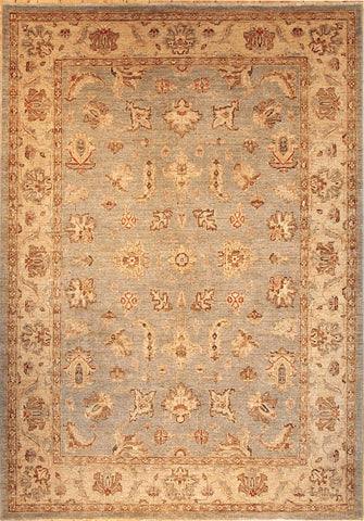 Picture of 4x6 Chobi Sky Blue/Ivory Ghazni Wool