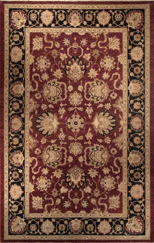 Picture of 6X9 CHOBI cherry / Black Ghazni Wool