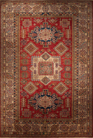 Picture of 6x9 Kazak Red/Ivory