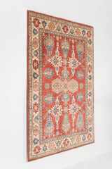 5.09x8.07  Super Kazak Red/Ivory Ghazni Wool